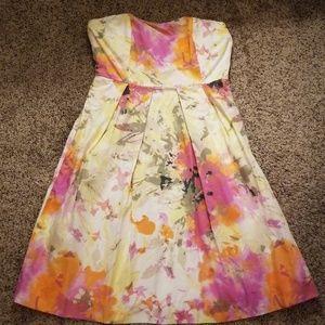 J. Crew Floral Strapless Dress 4